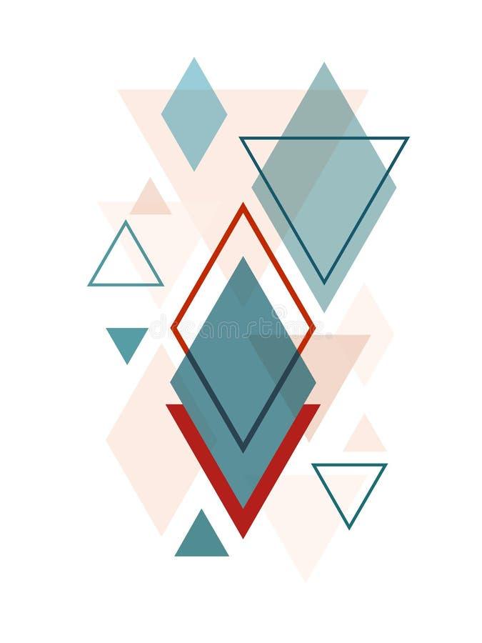 Minimalistisch Skandinavisch Abstract Geometrisch Art. royalty-vrije illustratie