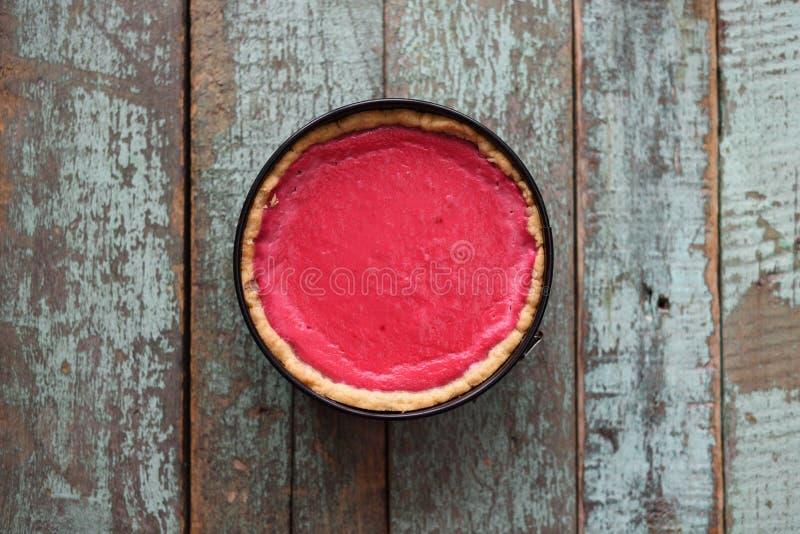 Minimalistisch Skandinavisch stijldessert Eigengemaakte lingonberry pastei stock foto
