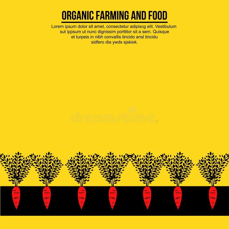 Minimalistische banner van wortelen ter plaatse stock illustratie