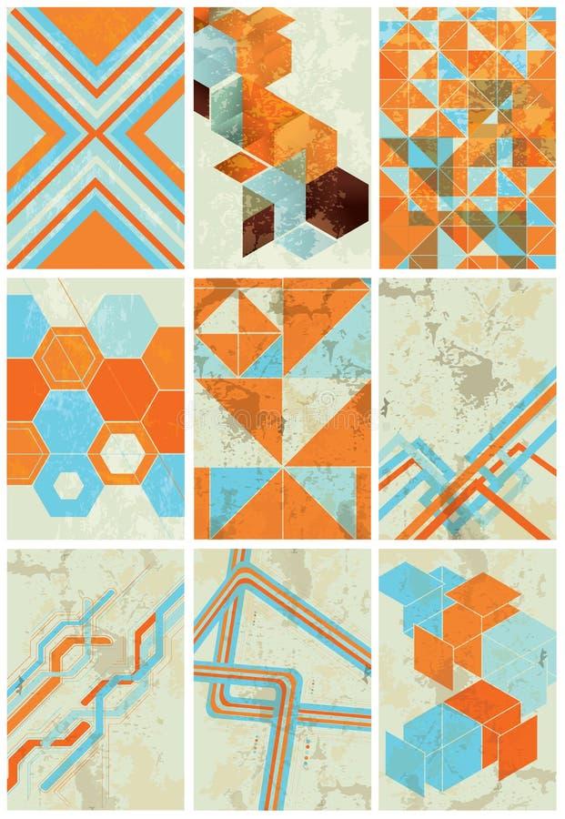 Minimalistische geometrische achtergronden stock illustratie