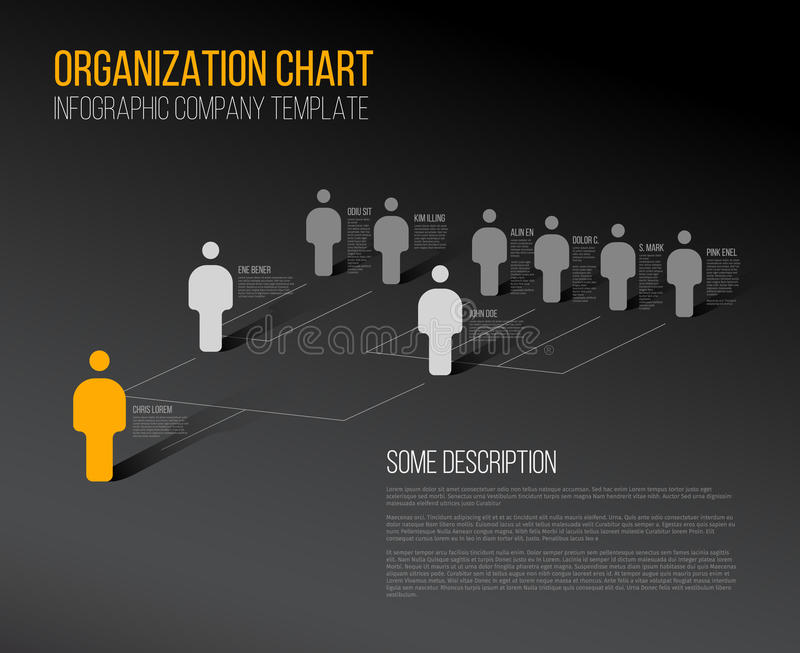Minimalistische hiërarchie 3d grafiek royalty-vrije illustratie