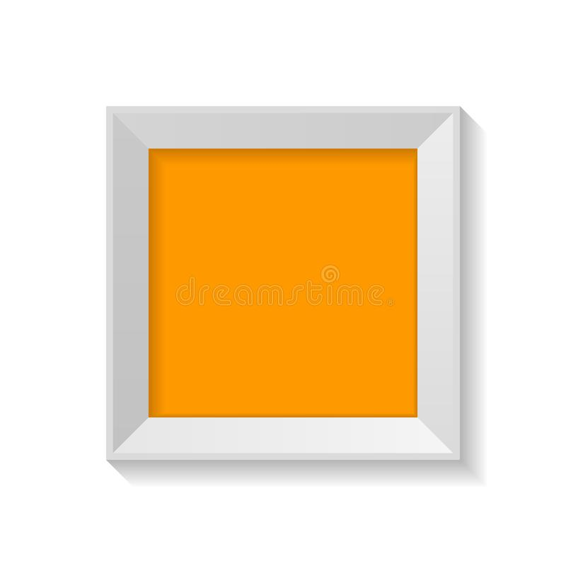 Minimalisty kwadrata rama z pustym artboard odizolowywającym na białej tło wektoru ilustracji ilustracja wektor