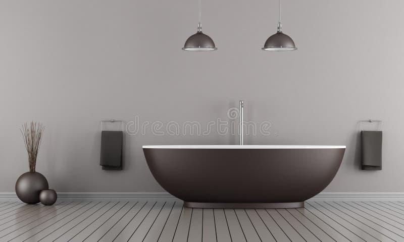 Minimalistyczna łazienka royalty ilustracja