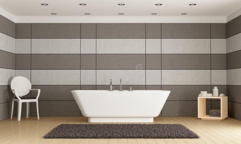 Minimalistyczna łazienka z wanną ilustracja wektor