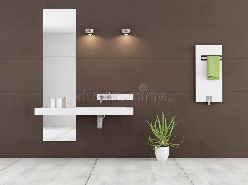 Minimalistyczna brown łazienka ilustracji