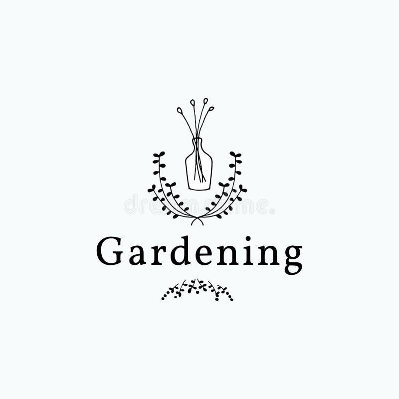 Minimalistyczna ręka rysujący ogrodnictwo kwiat ilustracja wektor