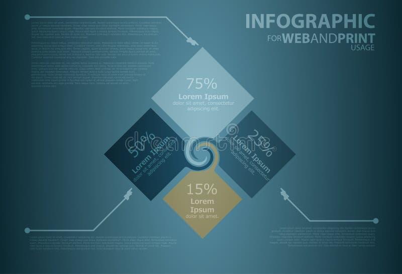 Minimallistic Infographic illustration de vecteur
