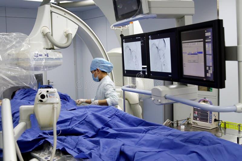Minimally invasive surgery. Here is minimally invasive surgery. A nurse is ready to pre-surgery
