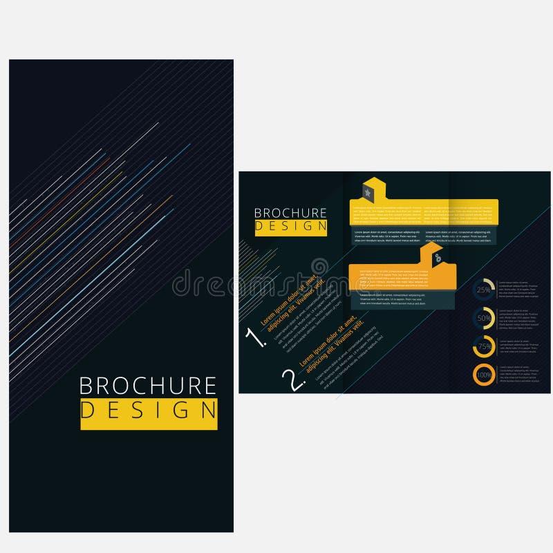 Minimalna broszurka ilustracja wektor