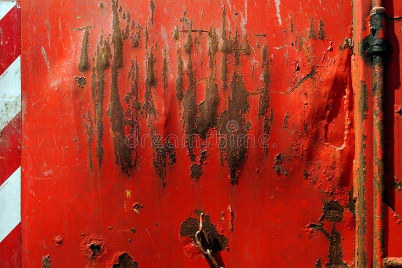 Minimalna fotografia czerwona zbiornik ściana zdjęcie stock