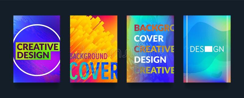 Minimalne abstrakcjonistyczne geometryczne deseniowe pokrywy projektują tło dla biznesowej broszurki ilustracji