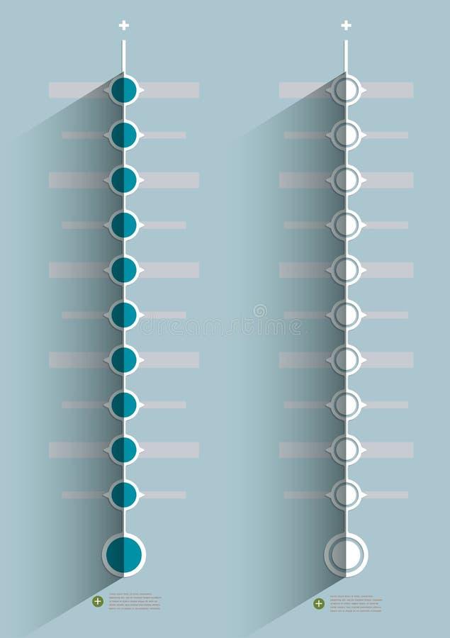 Minimalnej linii czasu infographic projekt ilustracji