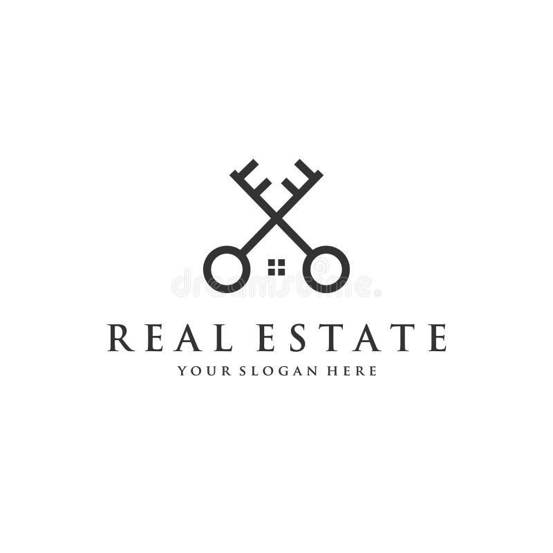 Minimalni kluczowi logo projekty ilustracji