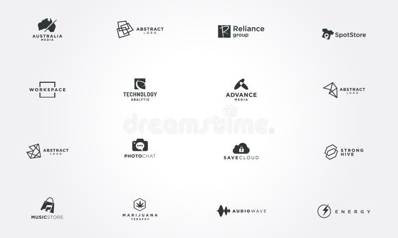 Minimalni loga projekta kolekcj pojęcia kreatywnie projekta wektoru ilustracja ilustracji