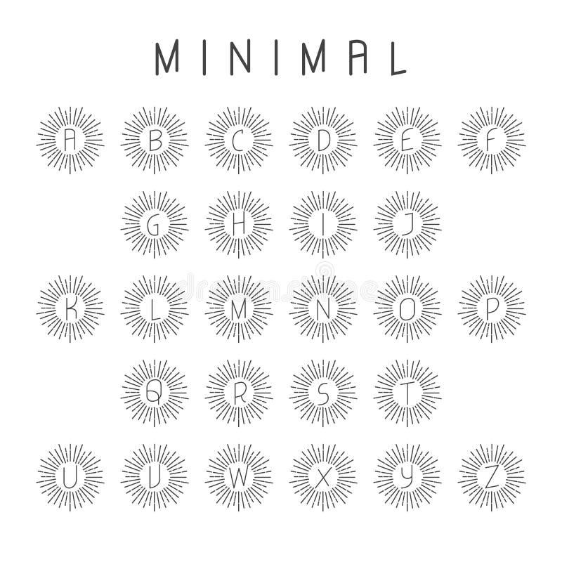Minimalny abecadło logo ilustracja wektor