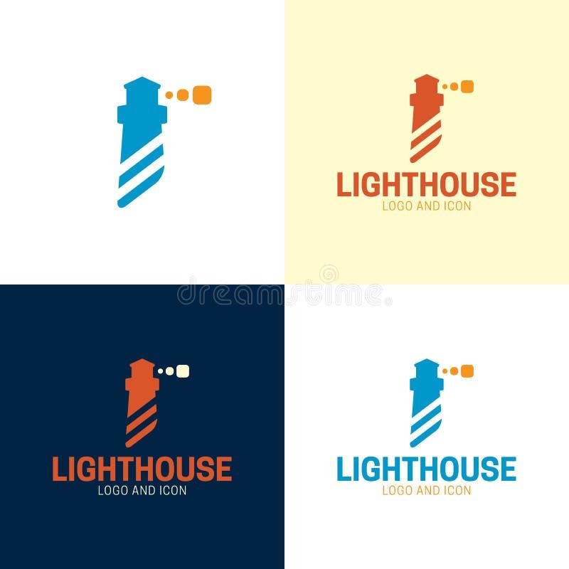 Minimalny Abstrakcjonistyczny latarnia morska logo, ikona i r?wnie? zwr?ci? corel ilustracji wektora royalty ilustracja
