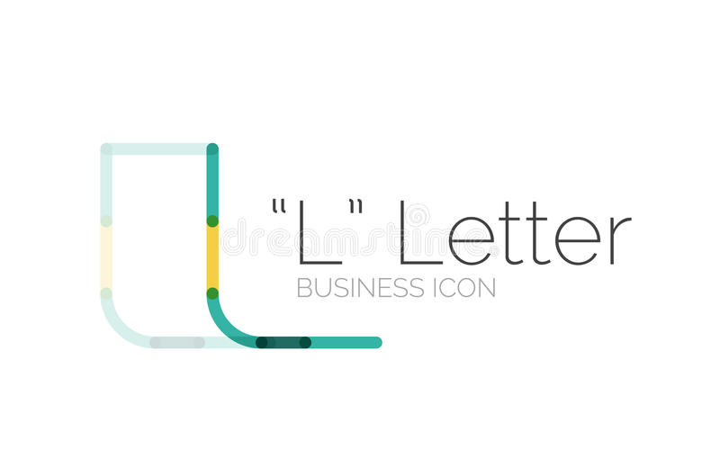 Minimalny chrzcielnicy lub listu loga projekt ilustracji