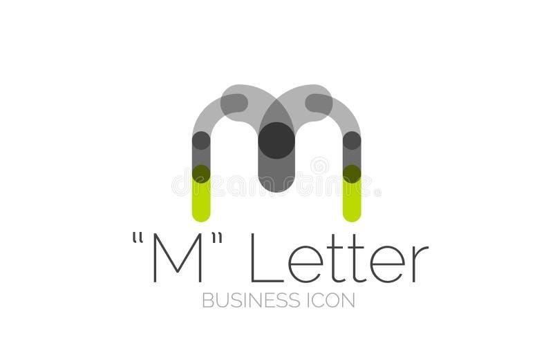 Minimalny chrzcielnicy lub listu loga projekt royalty ilustracja