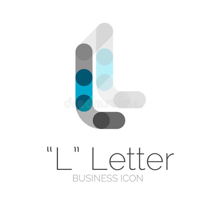 Minimalny chrzcielnicy lub listu loga projekt ilustracja wektor