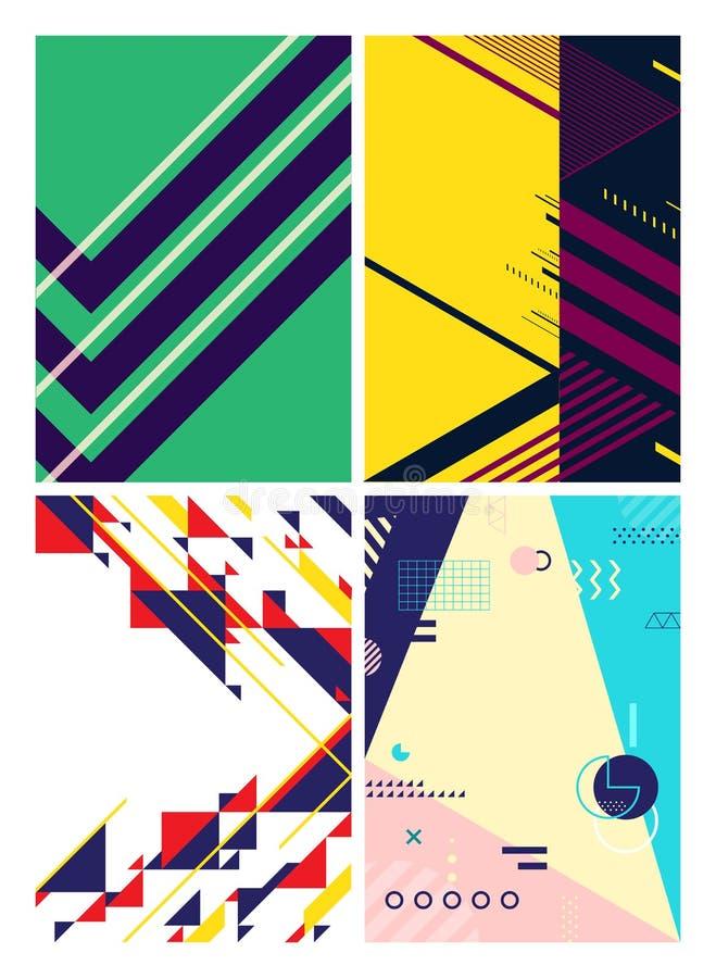 Minimalny geometryczny graficznego projekta układ, abstrakcjonistyczny wieloboka tło ilustracja wektor