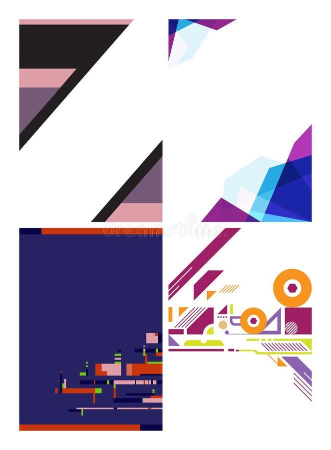 Minimalny geometryczny graficznego projekta układ, abstrakcjonistyczny wieloboka tło ilustracji