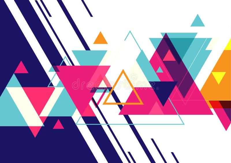 Minimalny geometryczny trójboka graficznego projekta układ, abstrakcjonistyczny wieloboka tło ilustracji