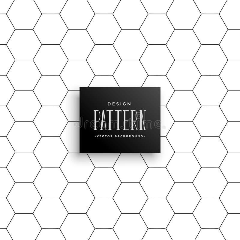 Minimalny heksagonalny linia wzoru tło royalty ilustracja