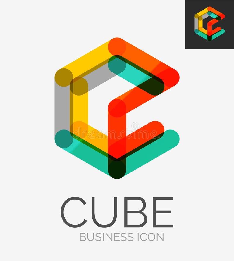 Minimalny kreskowy projekta logo ilustracja wektor