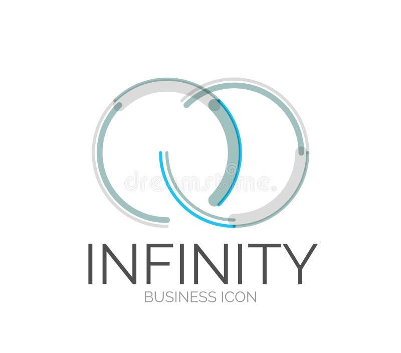 Minimalny kreskowy projekta logo ilustracji