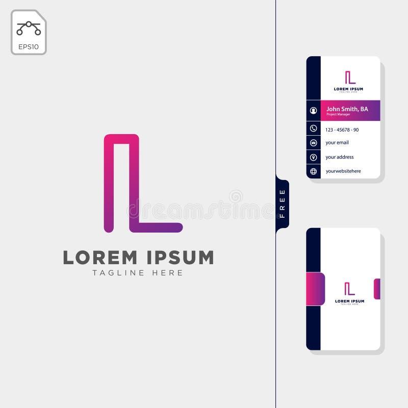 minimalny L nieruchomość logo kreatywnie szablonu wektorowa ilustracja, bezpłatny wizytówka projekta szablon ilustracja wektor