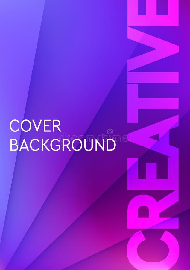 Minimalny okładkowy projekta szablon z gradientową teksturą dla minimalnego dynamicznego projekta Strony dla twój teksta składu royalty ilustracja