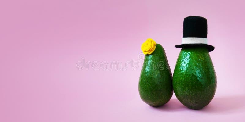 Minimalny oryginalny avocado poj?cie dla partyjnych zaprosze? i wakacje kartek z pozdrowieniami zdjęcie stock