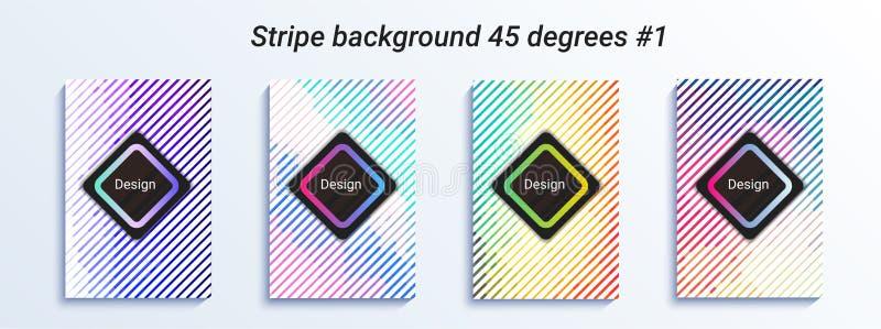 Minimalny pasiasty bakcground projekt Kolorowy halftone gradient jaskrawy geometryczny wzór również zwrócić corel ilustracji wekt ilustracja wektor