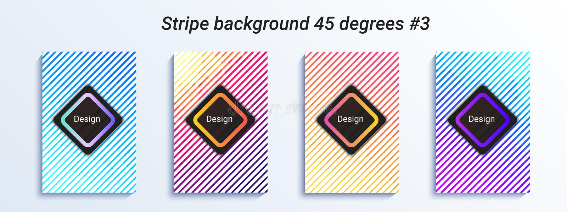 Minimalny pasiasty bakcground projekt Kolorowy halftone gradient jaskrawy geometryczny wzór również zwrócić corel ilustracji wekt royalty ilustracja
