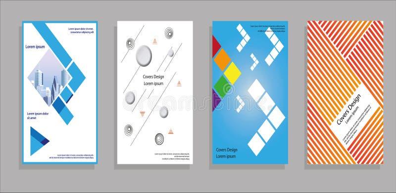 Minimalny pokrywa projekt Geometryczni halftone gradienty Eps10 Wektor royalty ilustracja