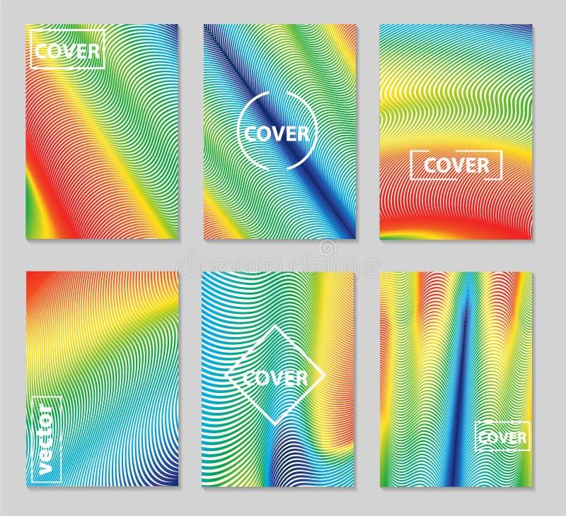 Minimalny pokrywa projekt Geometryczni kolorowi halftone gradienty ep ilustracji