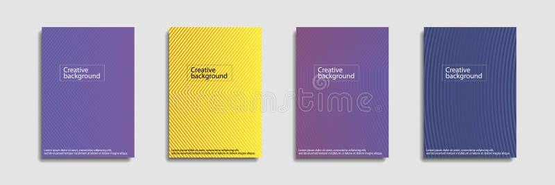 Minimalny pokrywa projekt Kolorowi halftone gradienty t?o szablonu nowo?ytny projekt dla sieci Ch?odno gradienty przysz?o?? royalty ilustracja