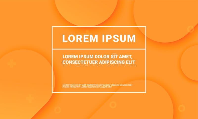 Minimalny pomarańczowy tło dla prezentacji tła szablonu Wektorowy abstrakcjonistyczny płaski pomarańczowy kolor z miękkim rzadkop ilustracji