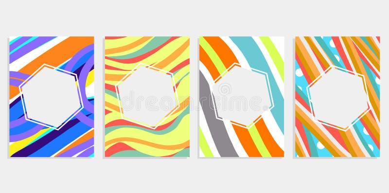 Minimalny ustalony abstrakcjonistyczny tło pokryw projekt Kolorowi halftone gradienty Przyszłościowi geometryczni wzory Eps10 c w ilustracji