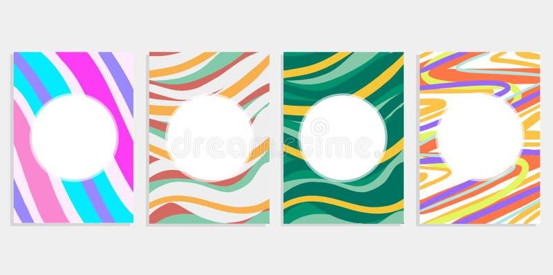 Minimalny ustalony abstrakcjonistyczny tło pokryw projekt Kolorowi halftone gradienty Przyszłościowi geometryczni wzory Eps10 c w ilustracja wektor
