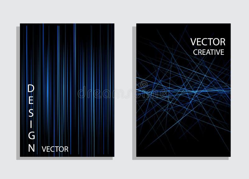 Minimalny wektor pokryw projekt Abstrakcjonistyczny geometryczny linia wzoru tło dla broszurki pokrywy projekta ilustracji