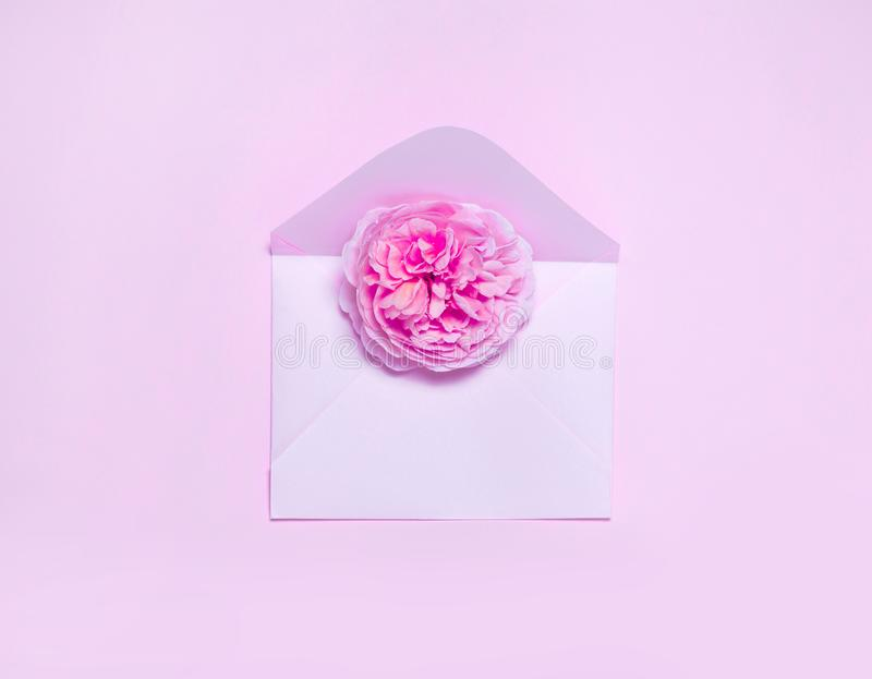 Minimalostic concept of post gift royalty free stock image