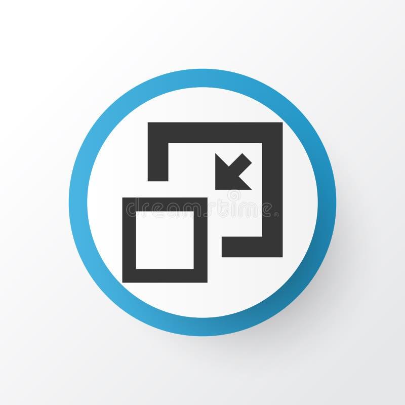 Minimera symbolssymbolet Högvärdig kvalitet isolerad minskningbeståndsdel i moderiktig stil stock illustrationer