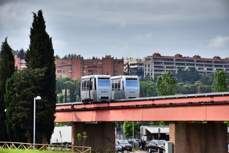 MiniMetro järnväg i Perugia, Umbrien arkivbilder