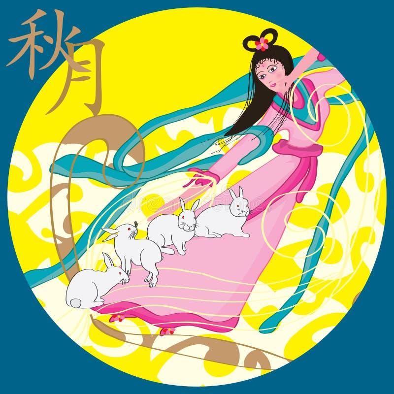 Minimum berättelse för höstfestivalmåne royaltyfri illustrationer