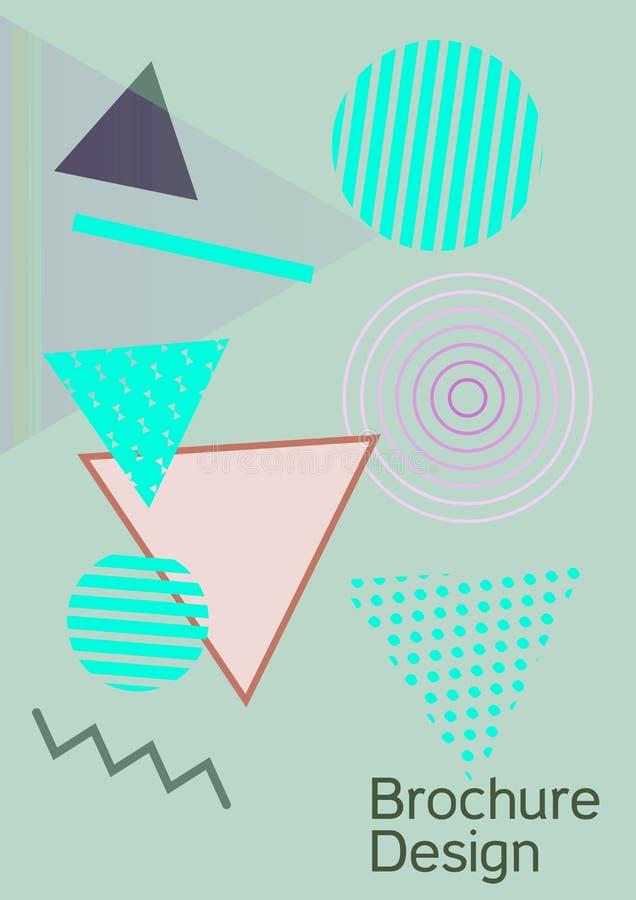 Memphis cover design. Minimum vector coverage. Modern Memphis background. Artistic geometric cover design. Fashionable  cover, banner, poster, booklet. Creative stock illustration