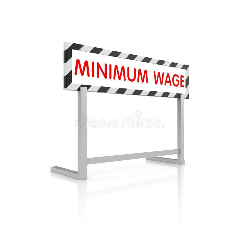 Minimum wage. Barrier with words - minimum wage royalty free illustration