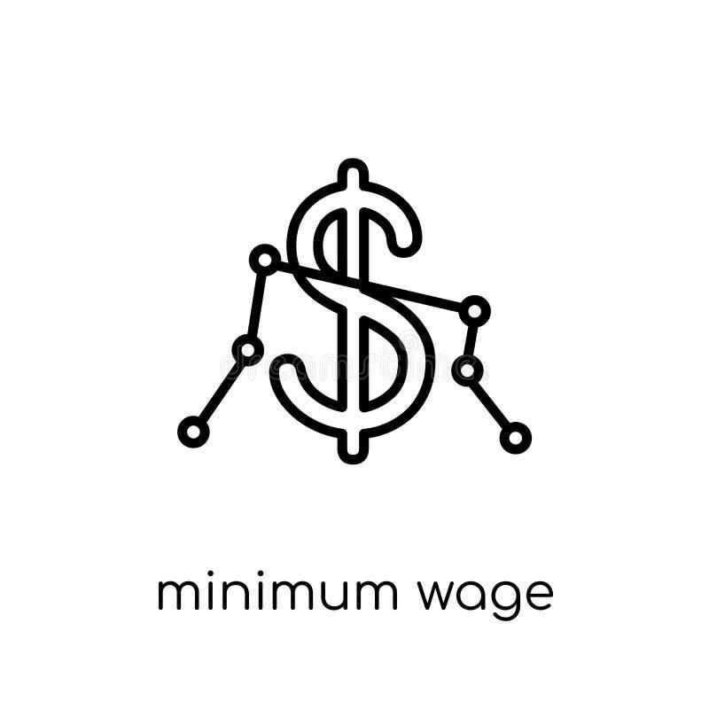 Minimumloonpictogram  royalty-vrije illustratie