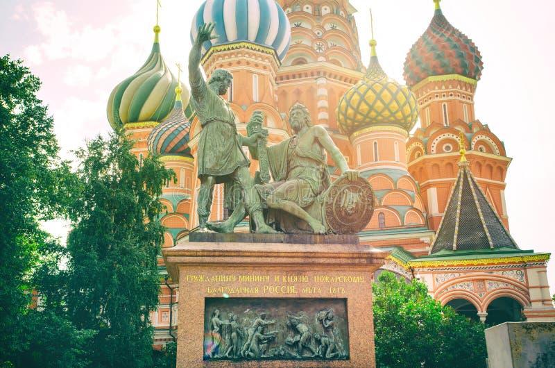 minin pozharsky pomnikowy fotografia royalty free