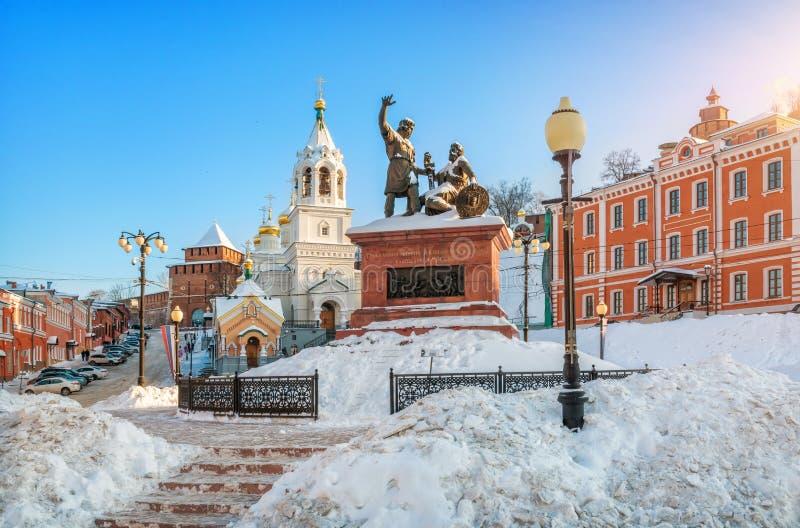minin pozharsky pomnikowy zdjęcie royalty free